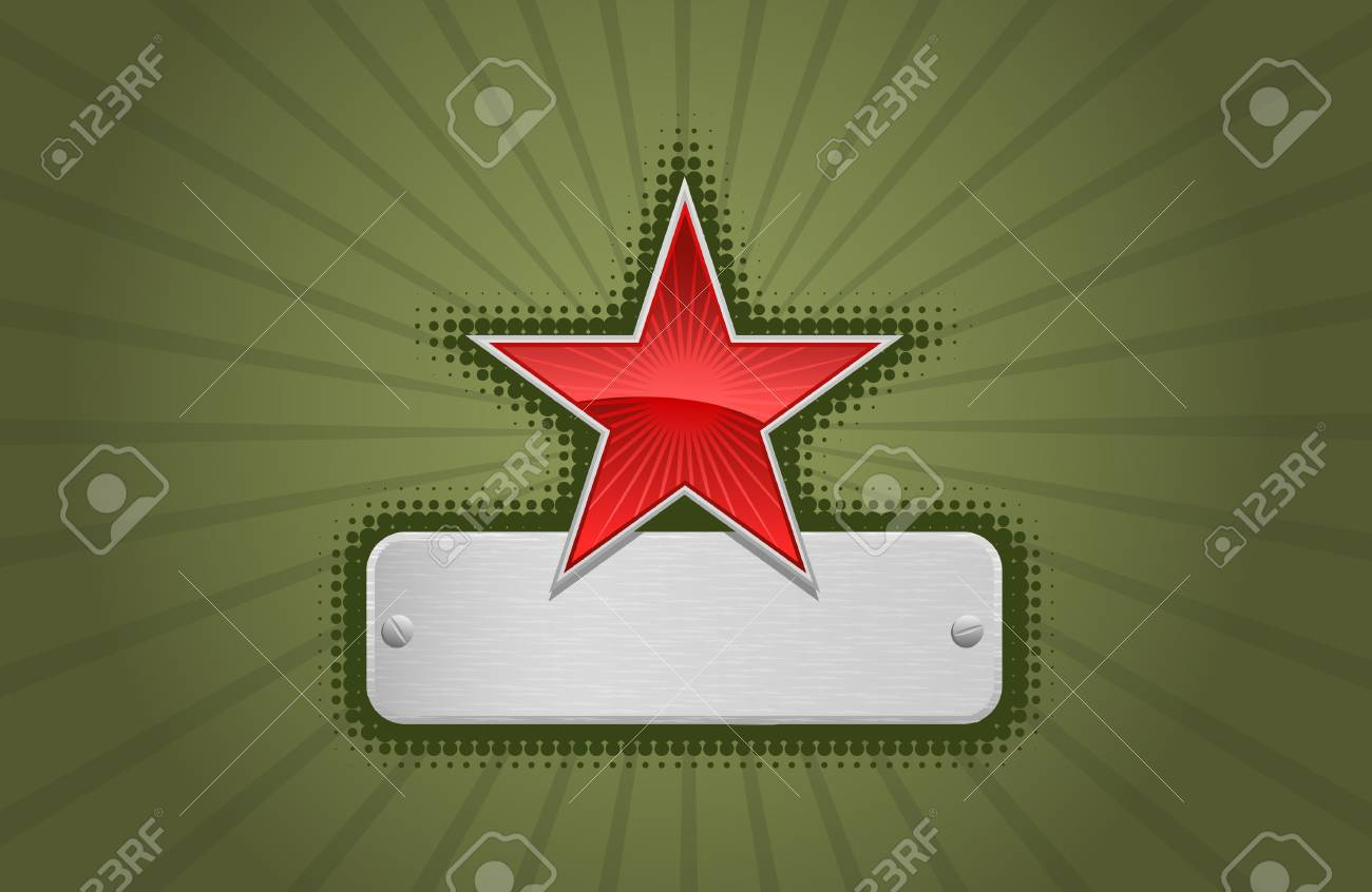 Vector red and green star frame Stock Vector - 2631302