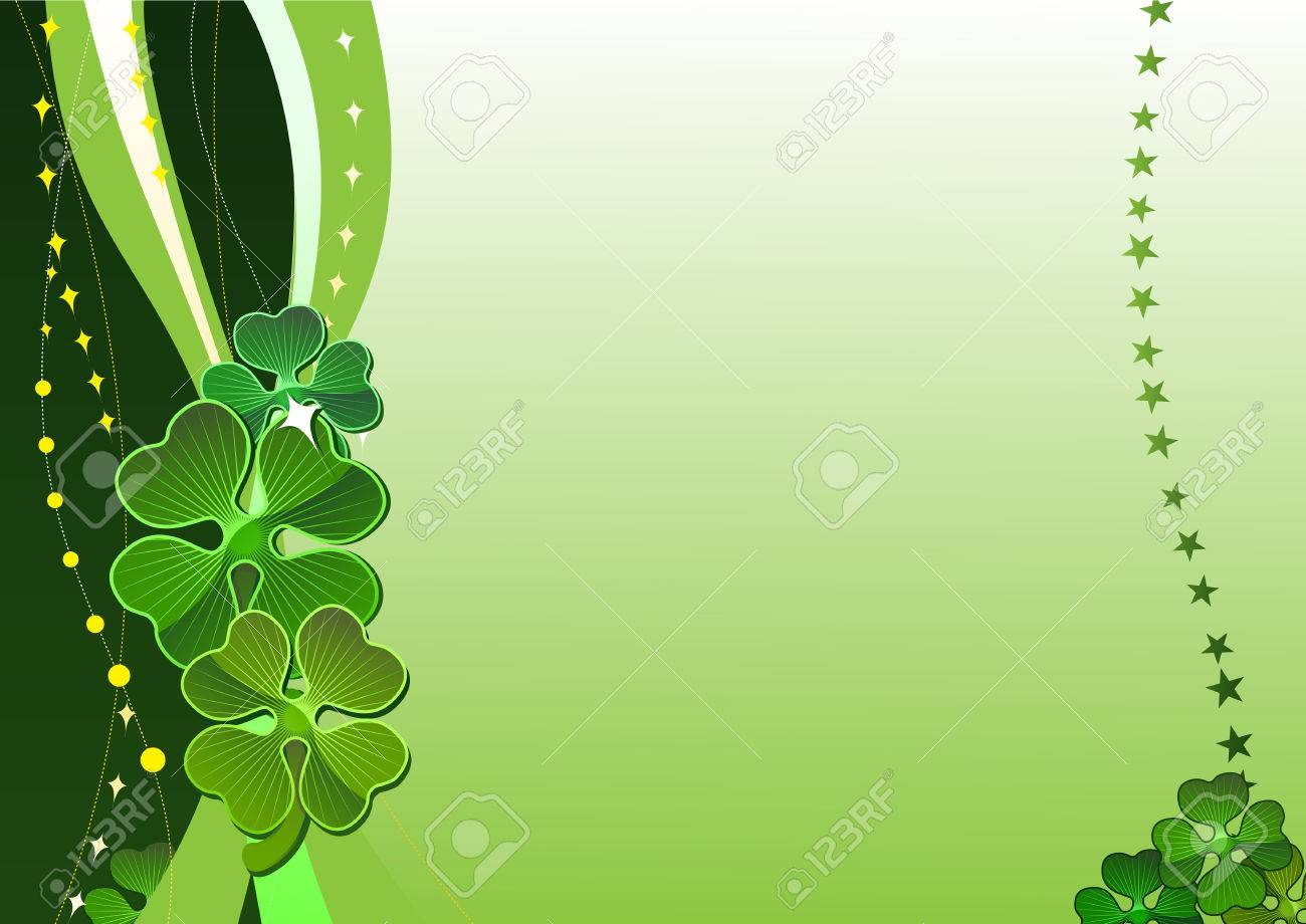 Decorative vector background with four-leafed clover Stock Vector - 2640303