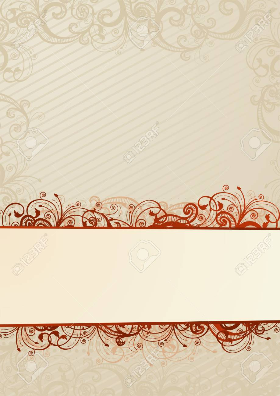 Vector light floral wallpaper with white copy-space Stock Vector - 3561533