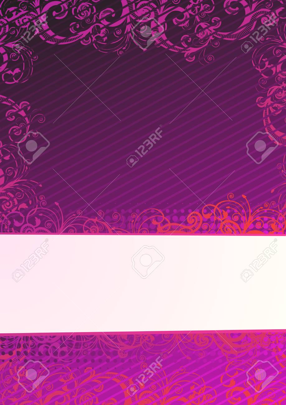 Vector illustration of purple floral background with copy-space Stock Vector - 4001418