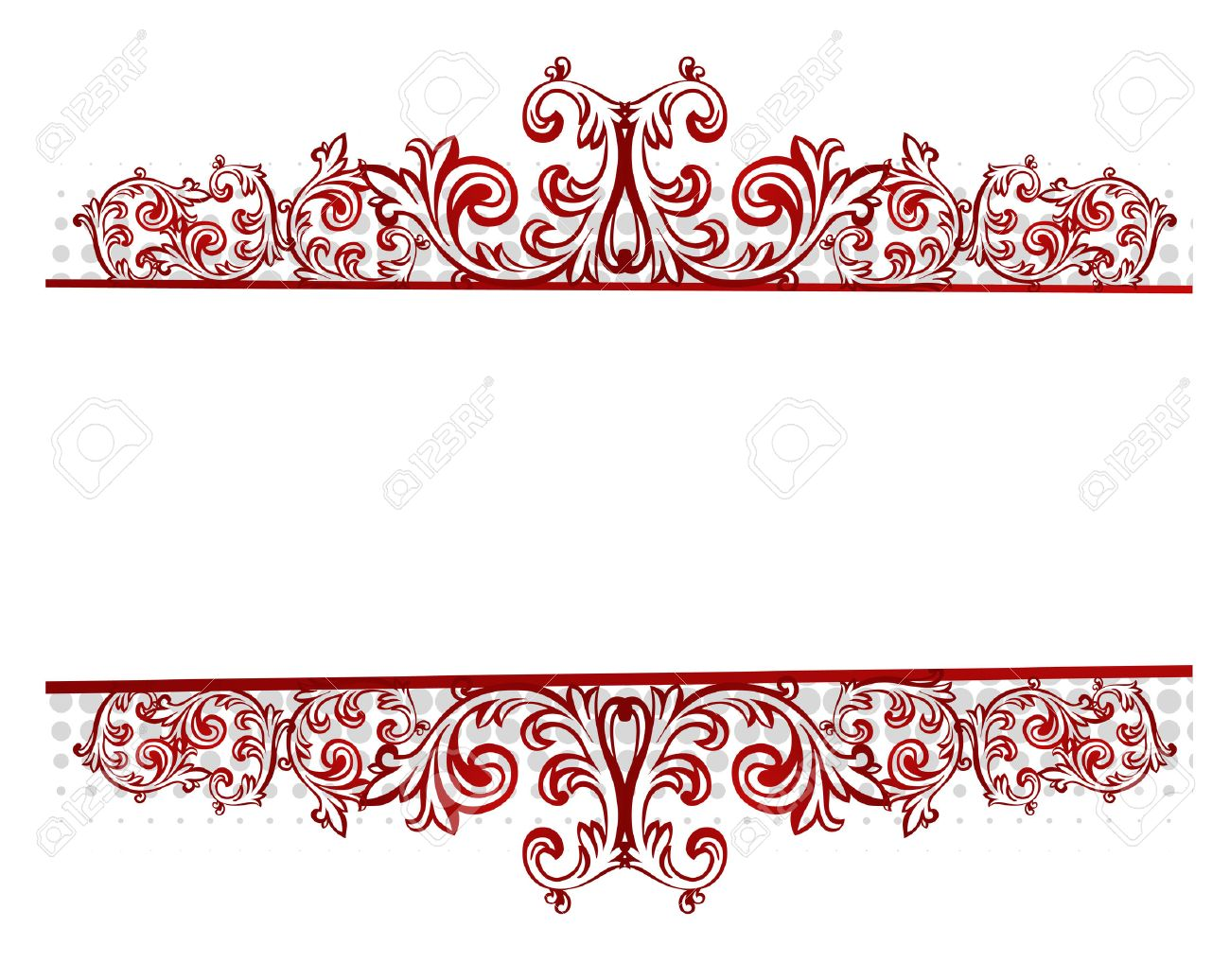 vector illustration of a floral red border royalty free cliparts