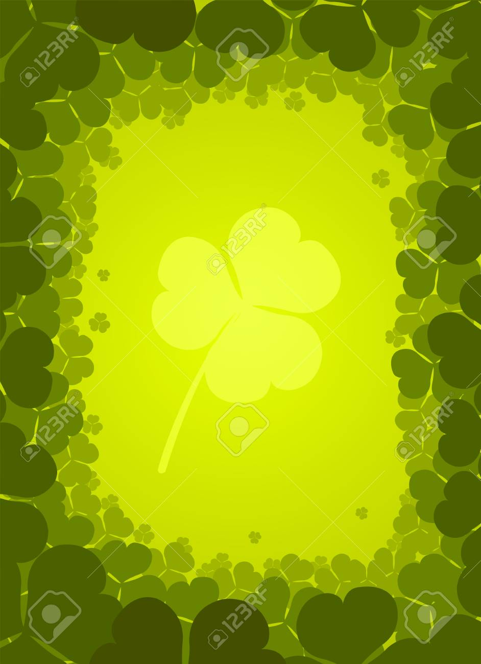 Vector background with clover for St. Patrick�s Day Stock Vector - 4299019