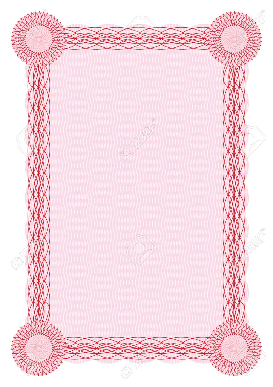 Vector guilloche red border for diploma or certificate template vector vector guilloche red border for diploma or certificate template yadclub Image collections