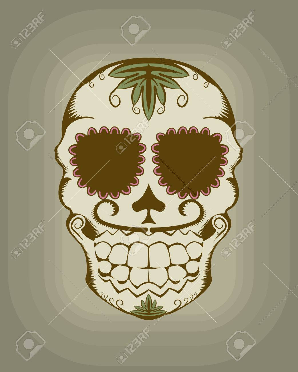 illustration of decorative sugar skull Stock Vector - 6766268