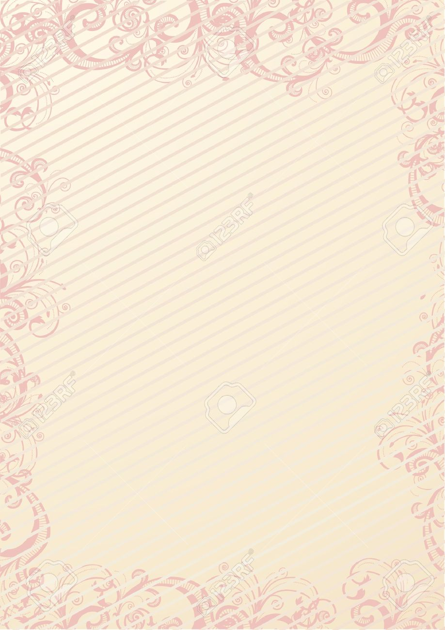 beige floral wallpaper Stock Vector - 9863178