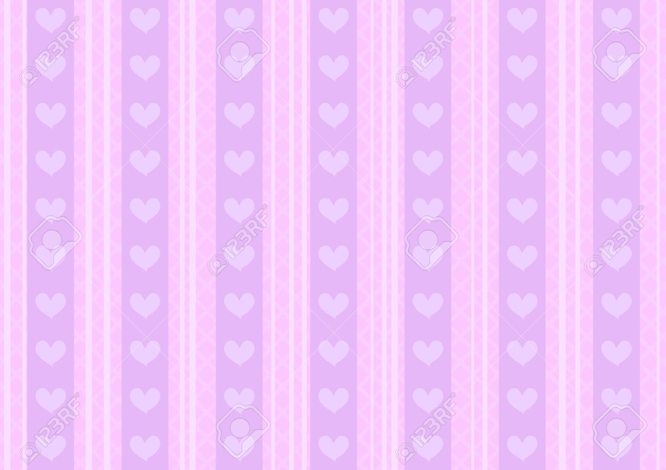 Vector Pink And Purple Heart Background For St Valentines Day
