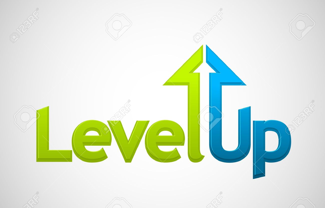 Vector level up message, growth symbol - 17530700