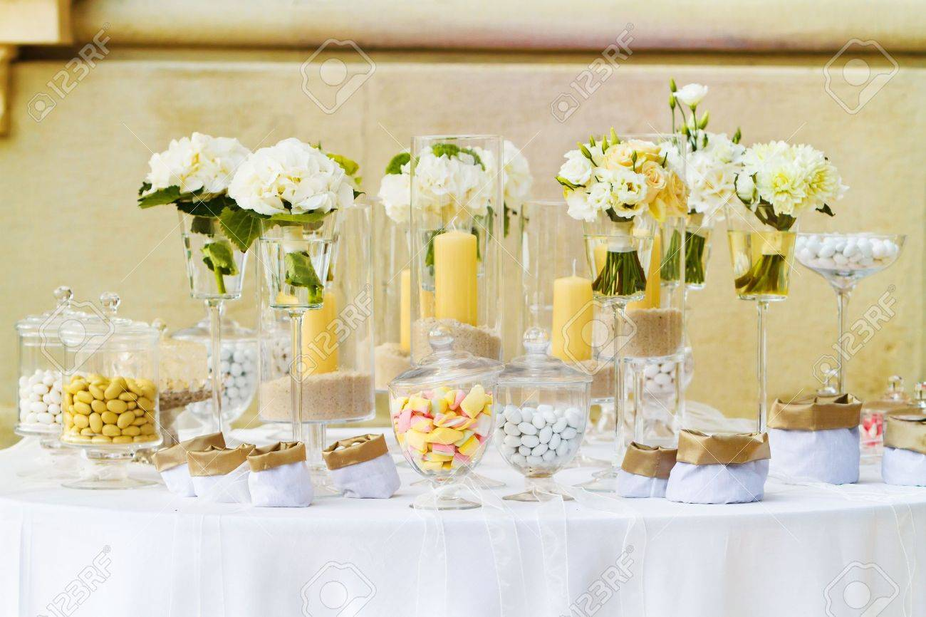 white candy for a wedding Stock Photo - 19385443