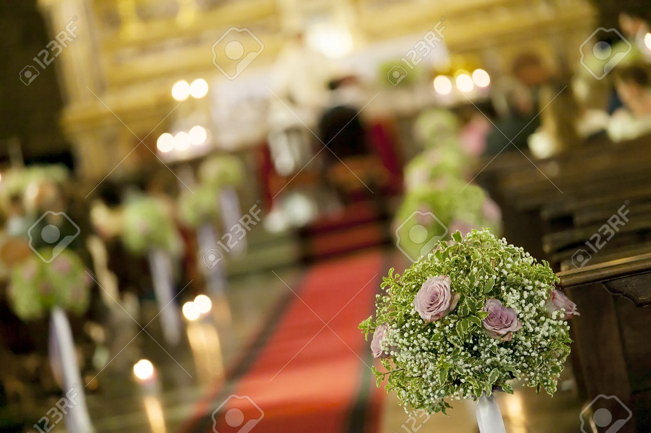 Detail of beautiful flower wedding decoration in a church stock detail of beautiful flower wedding decoration in a church stock photo 28946873 junglespirit Choice Image