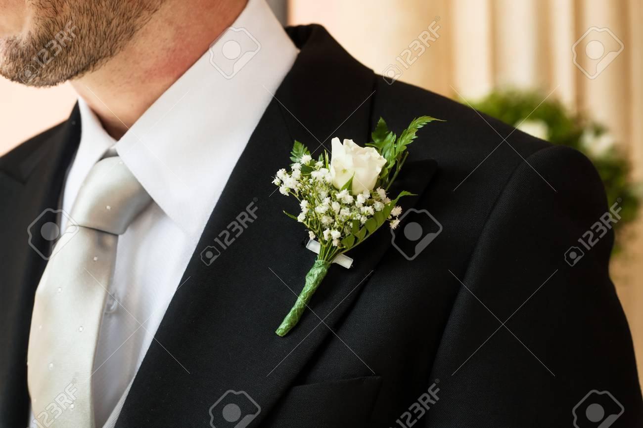 offrir des rabais grand assortiment boutique de sortie Boutonnière smoking cravate