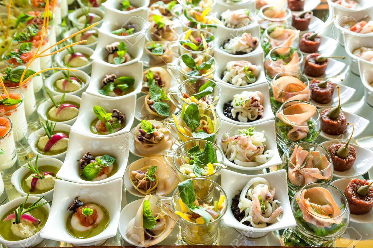 variety appetizers and finger food stock photo picture and royalty