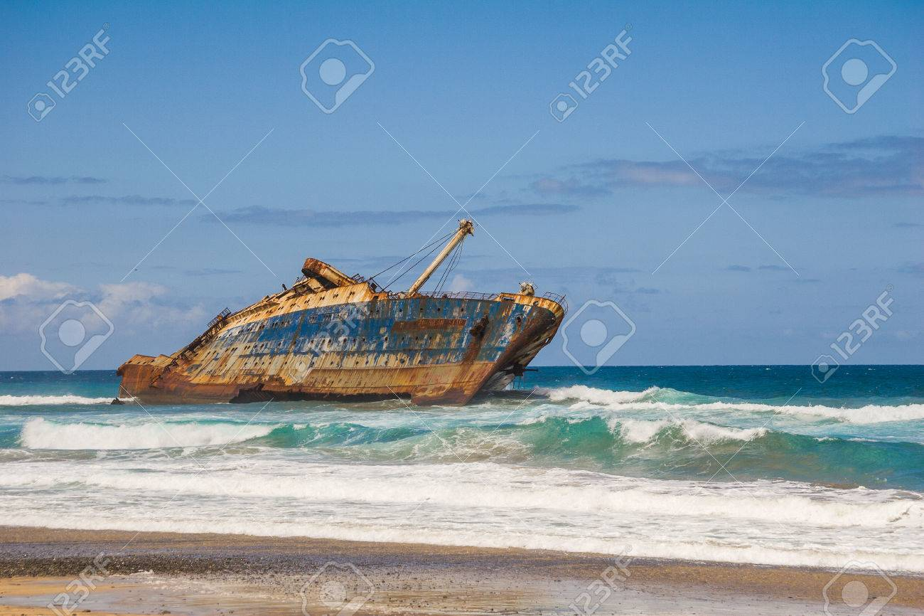 wreck of fomer ship