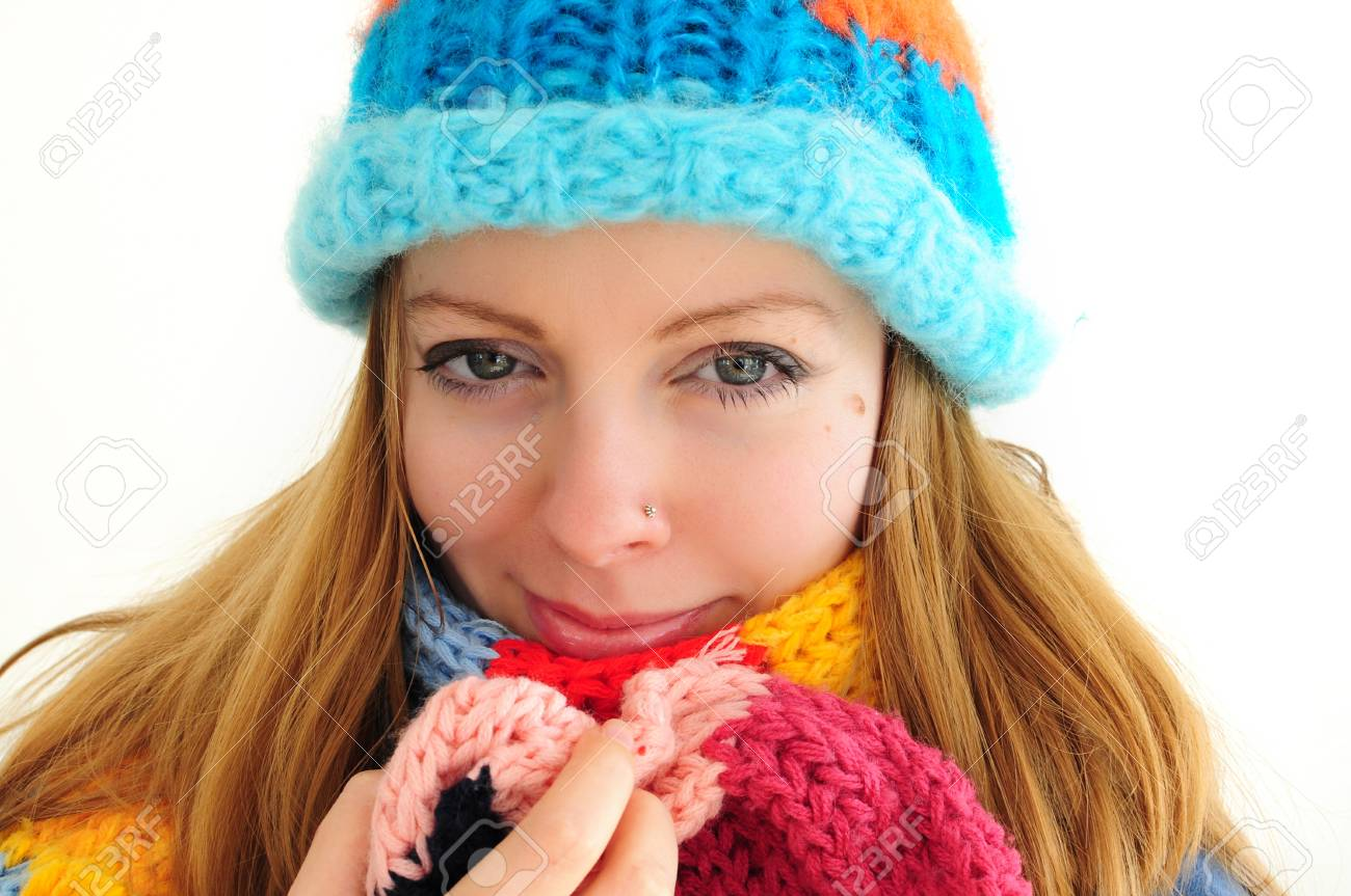 young caucasian woman in winter outfit Stock Photo - 12131350