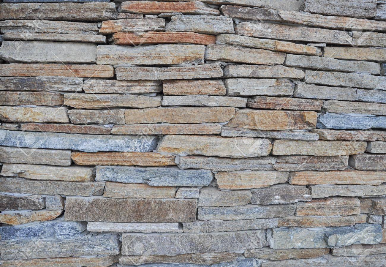 Wand Aus Stein Ziegel Bilden Eines Musters Lizenzfreie Fotos ...