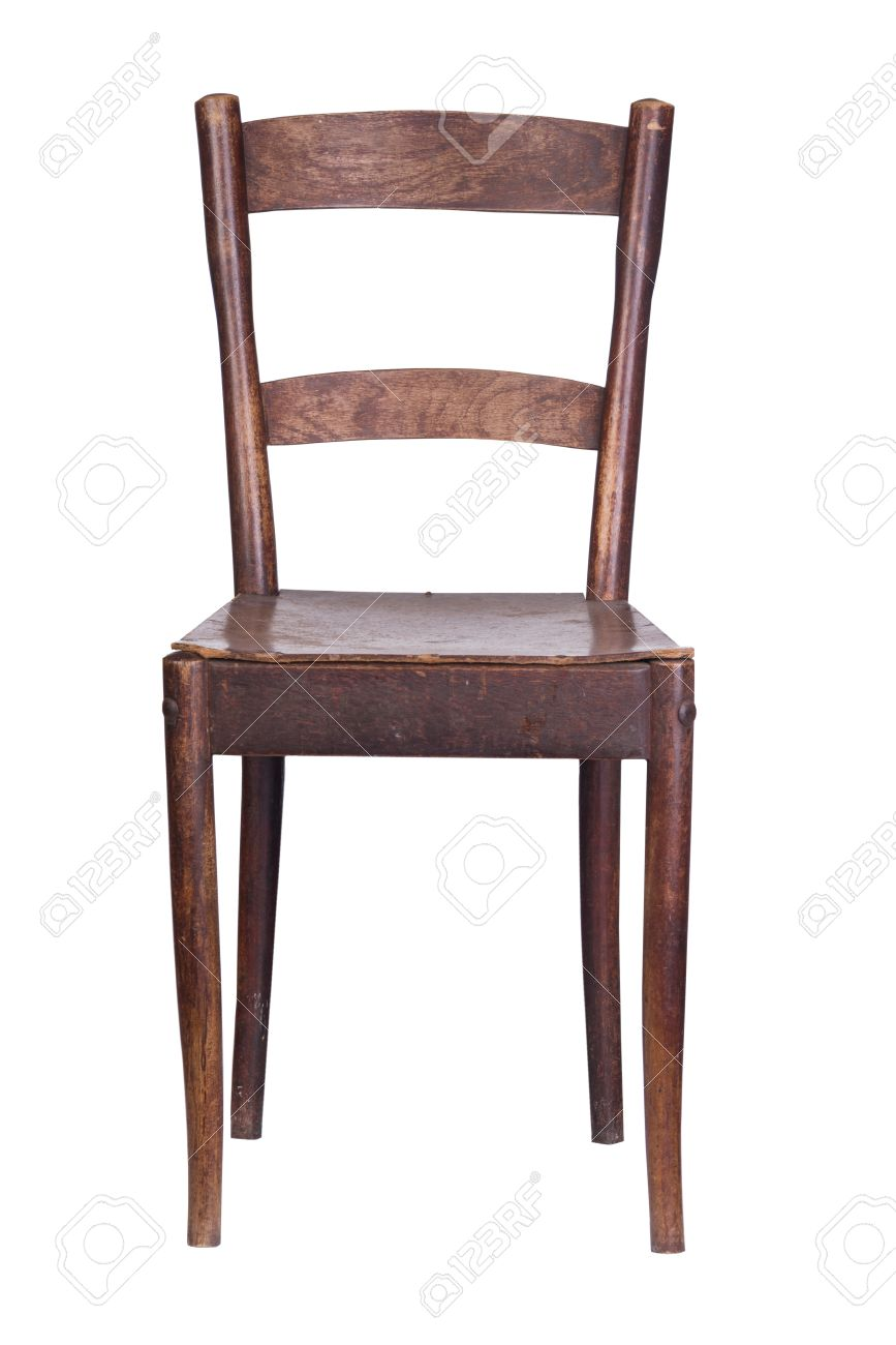old vintage wooden kitchen chair on a white background Stock Photo -  34541581 - Old Vintage Wooden Kitchen Chair On A White Background Stock Photo