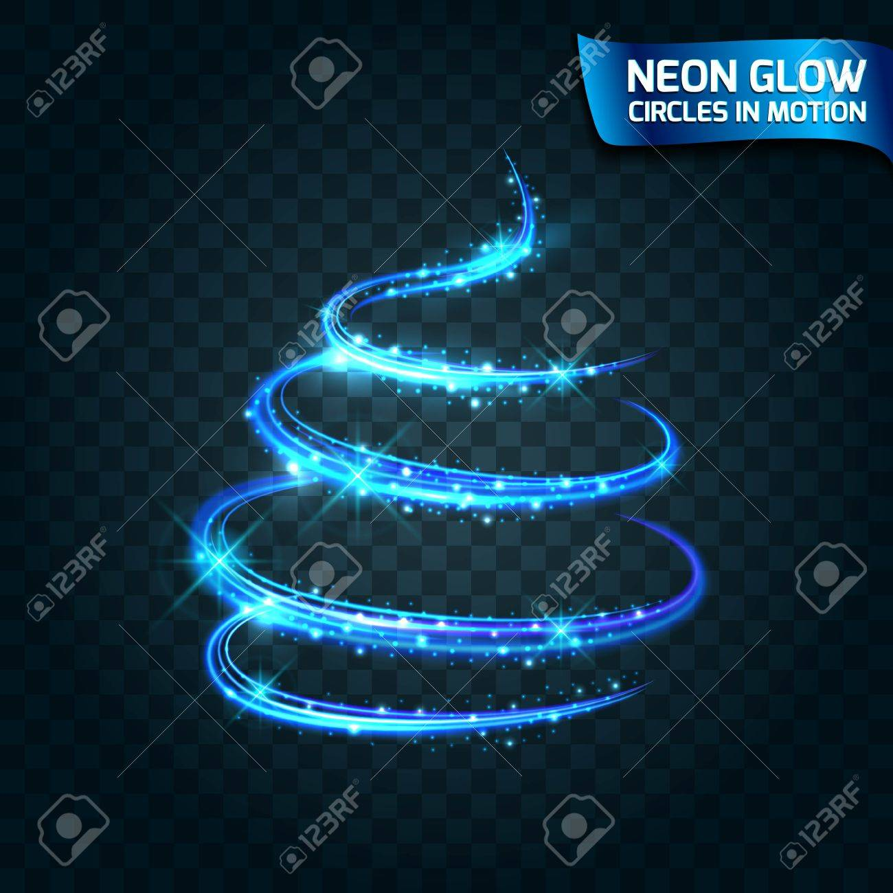 Holiday Lights In Abstract Slow Shutter >> Neon Glow Circles In Motion Blurred Edges Bright Glow Glare Glow