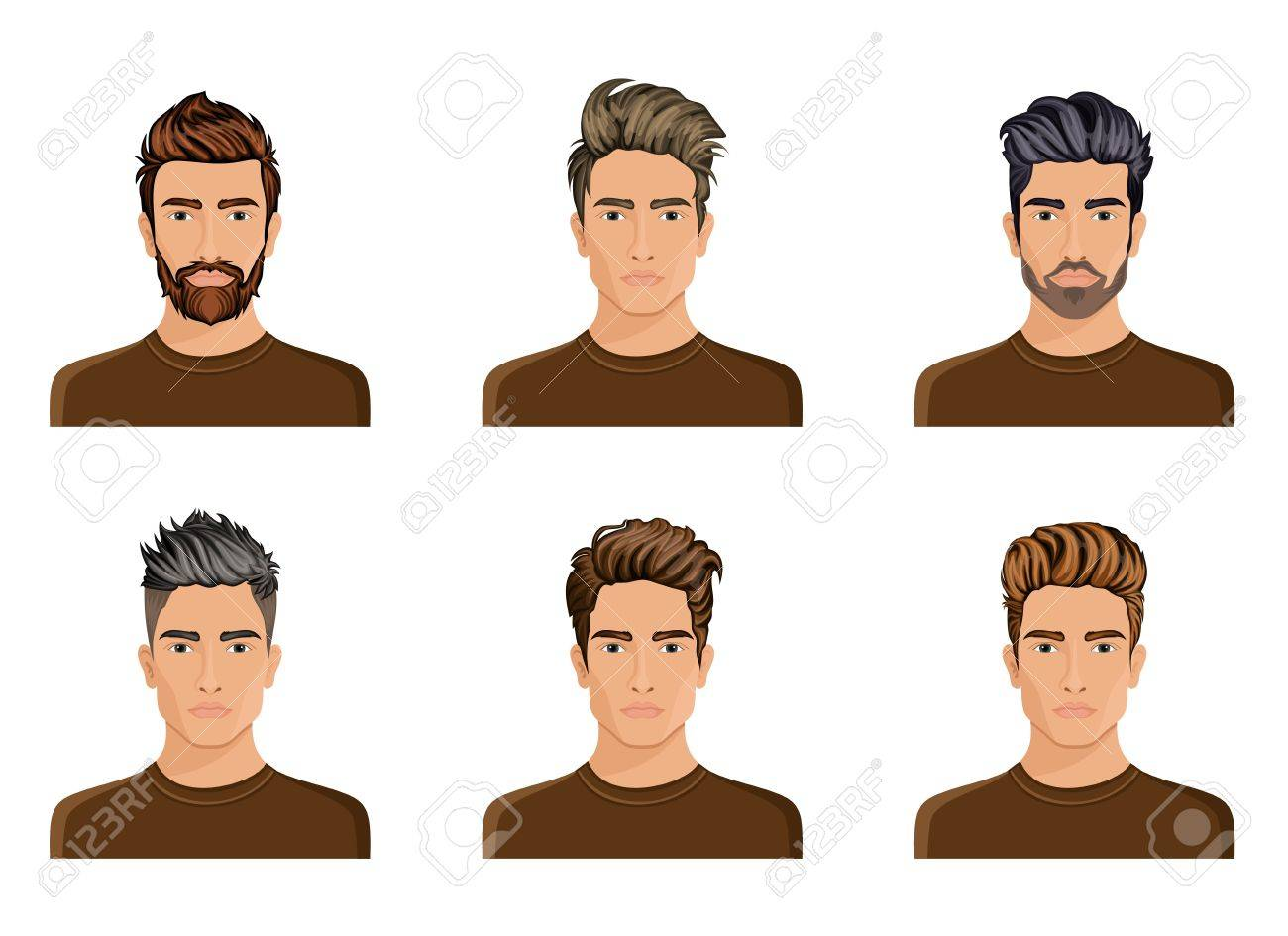 Excellent Men Used To Create The Hair Style Of The Character Beard Mustache Natural Hairstyles Runnerswayorg