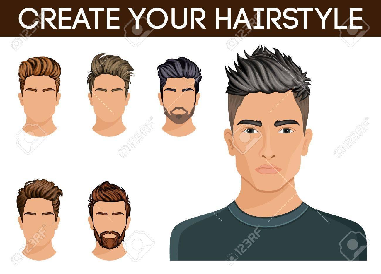 Crear Modificar Peinados Los Hombres Del Estilo Pelo De La Barba