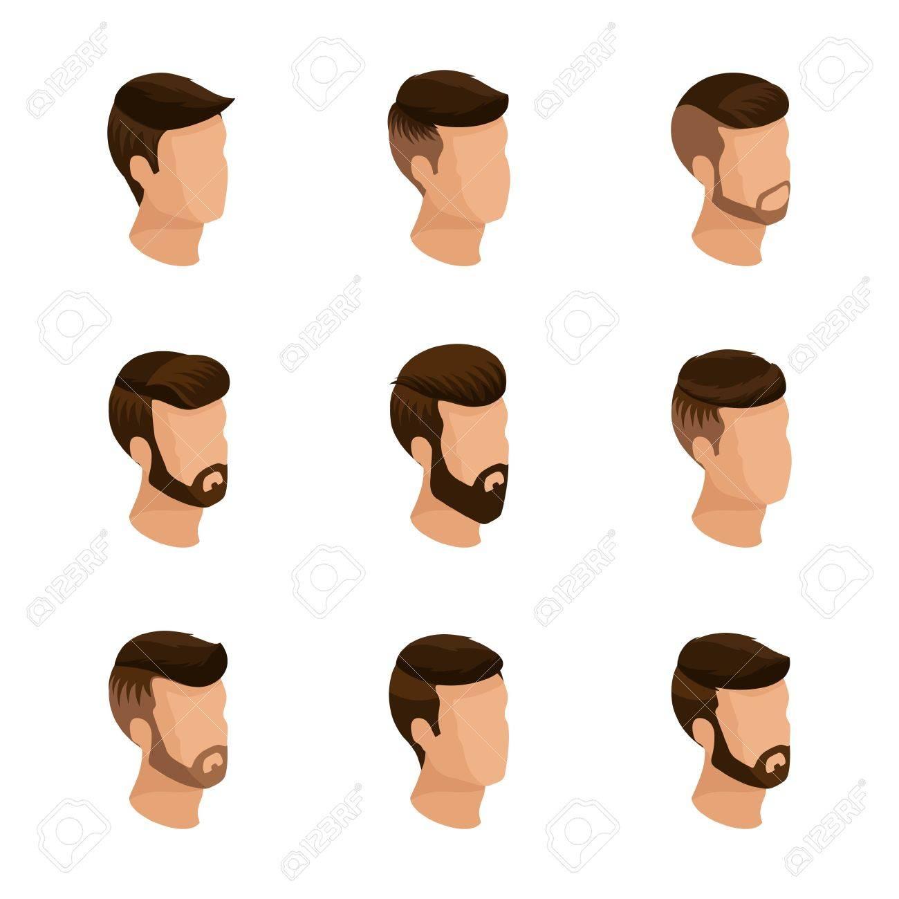 Isometricos Populares Los Peinados De Los Hombres Estilo