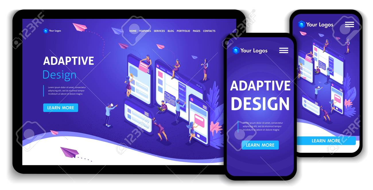 Template Landing Page Isometric Concept Of Web Page Design And Royalty Free Cliparts Vectors And Stock Illustration Image 112968528