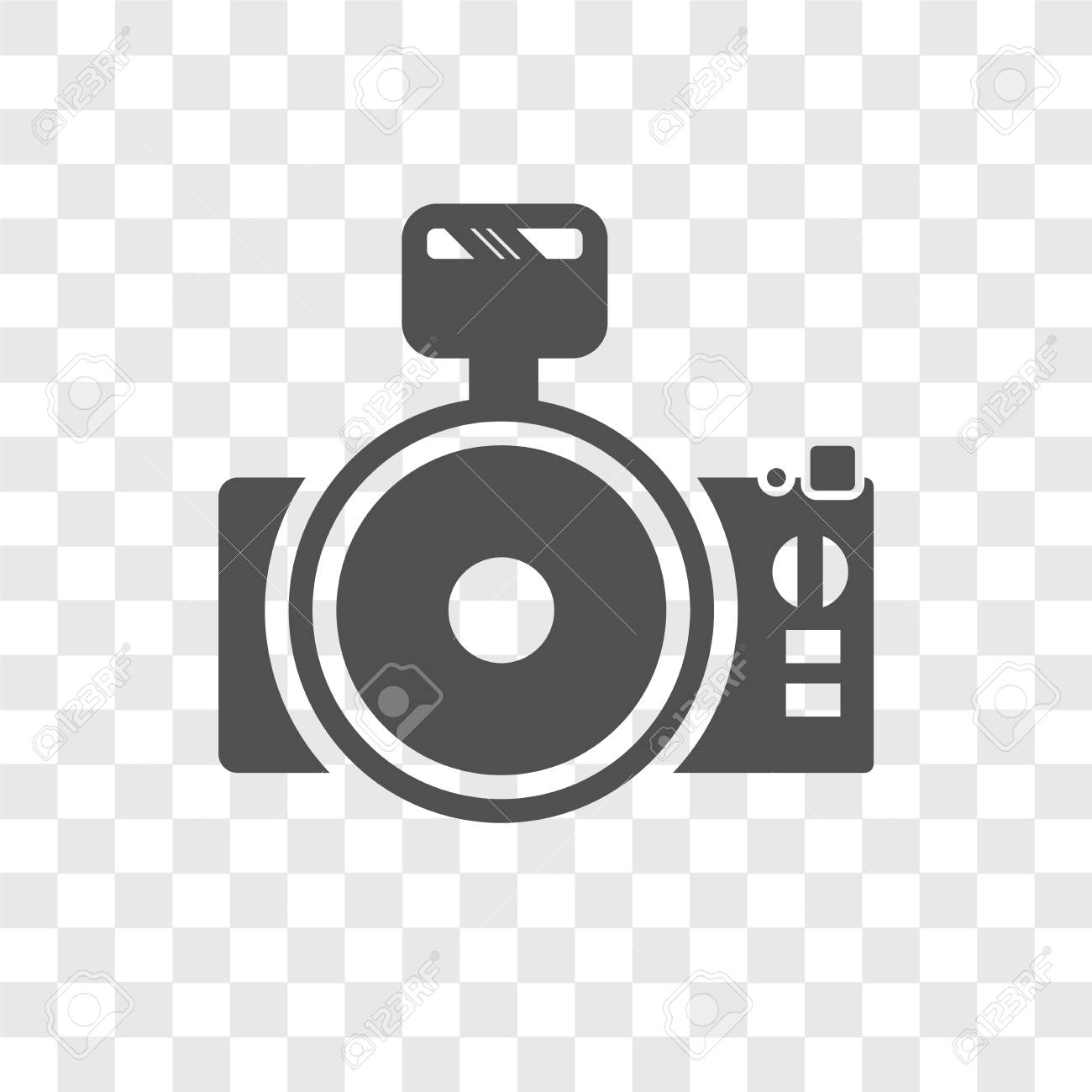Photo Camera Vector Icon Isolated On Transparent Background Royalty Free Cliparts Vectors And Stock Illustration Image 107298122