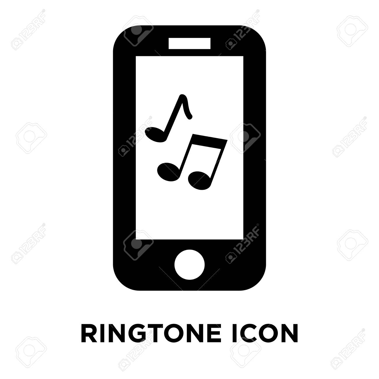 Ringtone icon vector isolated on white background, logo concept