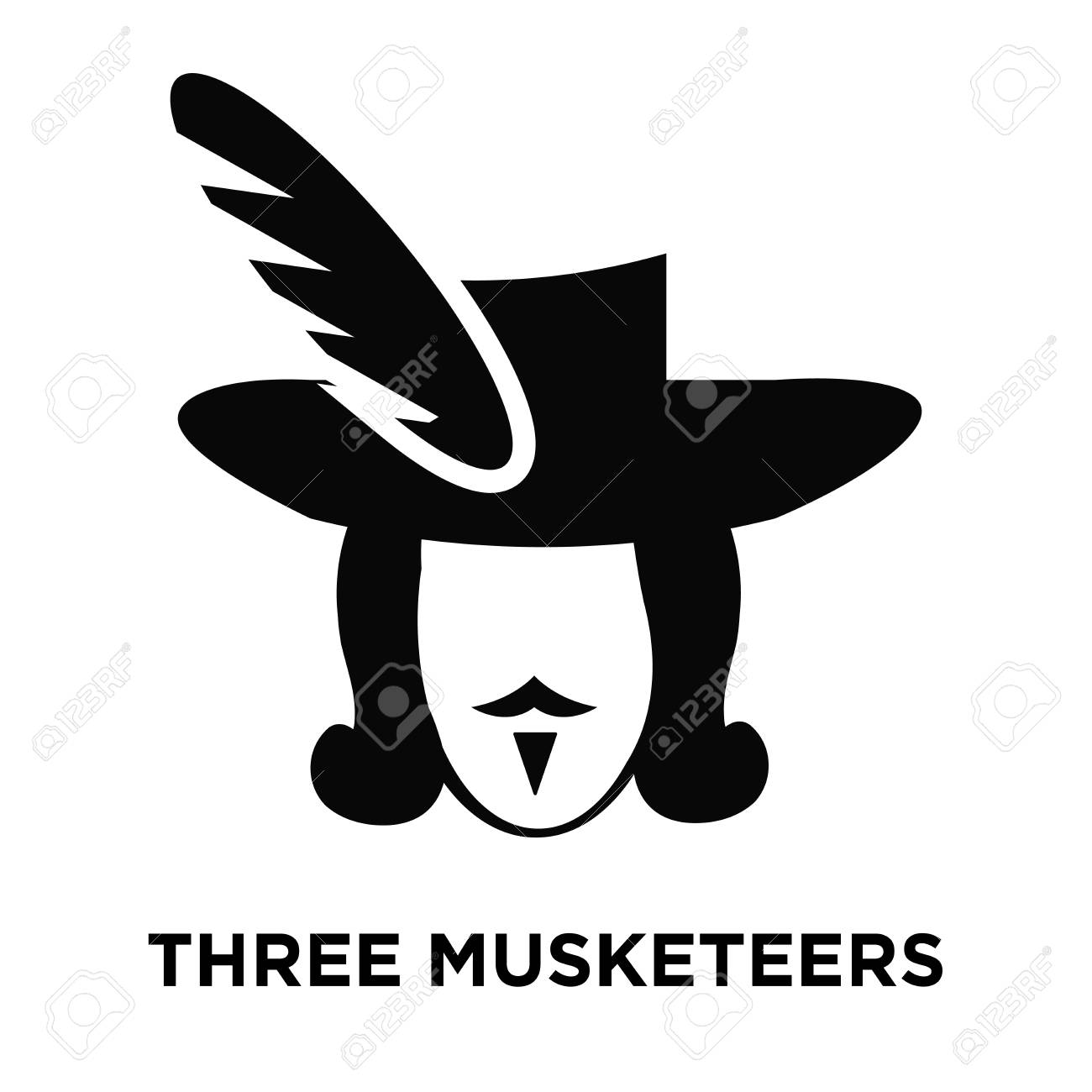 Three Musketeers Icon Vector Isolated On White Background Logo