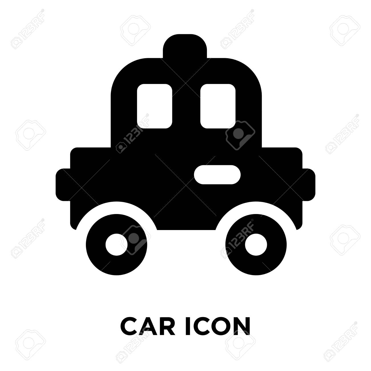 Car Icon Vector Isolated On White Background Logo Concept Of