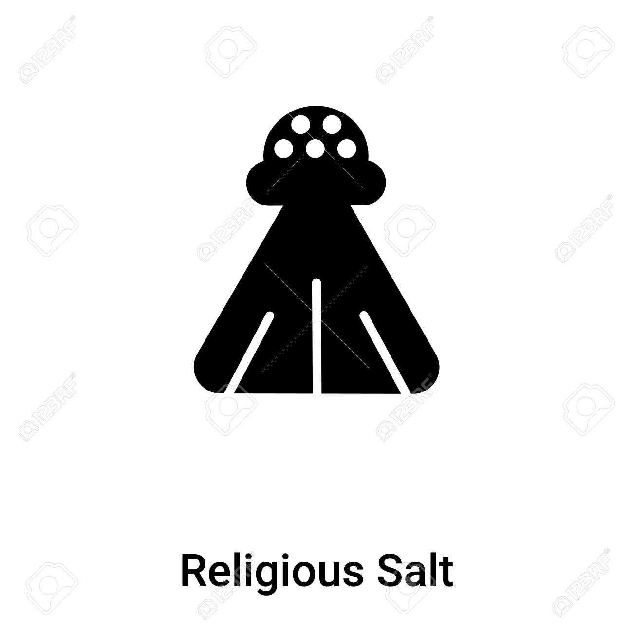 Religious Salt icon vector isolated on white background, concept of Religious Salt sign on transparent background, filled black symbol - 108636433