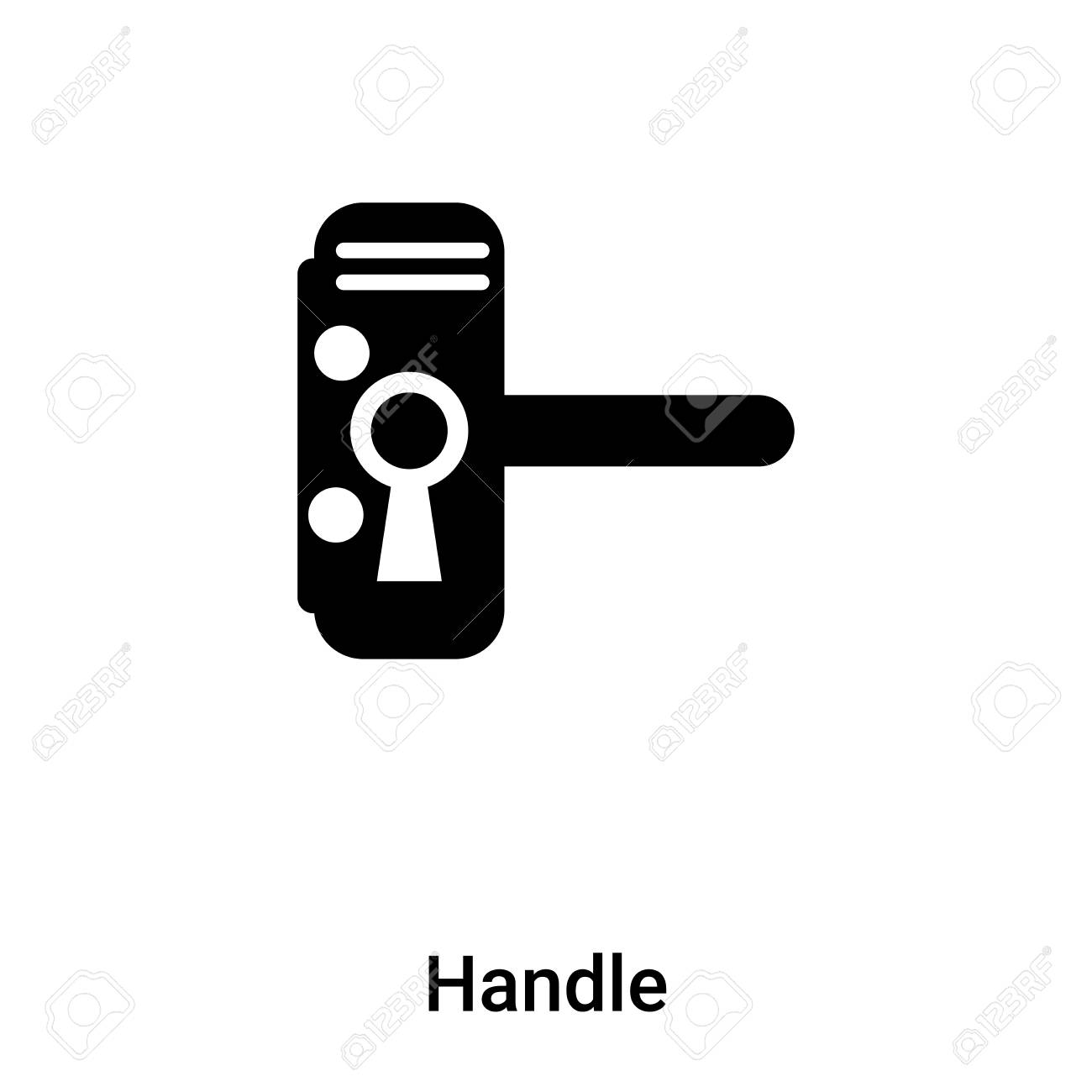 handle icon vector isolated on white background concept of handle