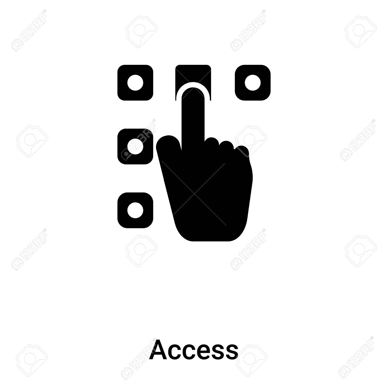 Access icon isolated on white background, concept of Access sign on transparent background, filled black symbol - 125620001