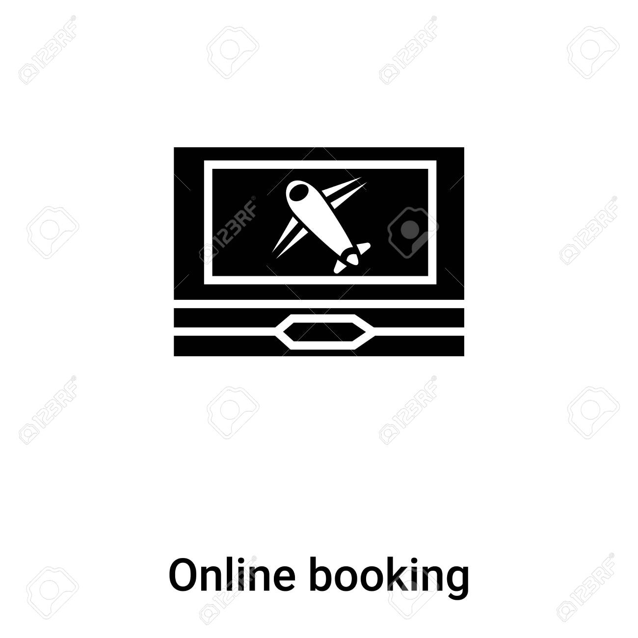 Online Booking Icon Vector Isolated On White Background Logo