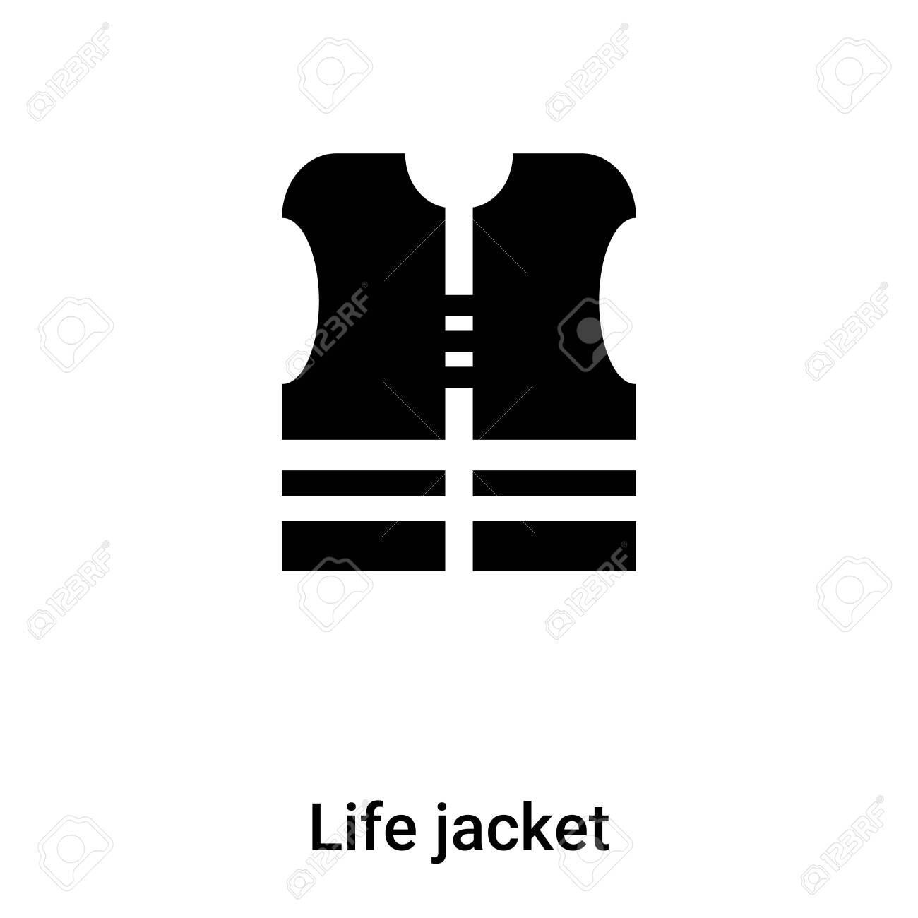 Life Jacket Icon Vector Isolated On White Background Concept Royalty Free Cliparts Vectors And Stock Illustration Image 121287228