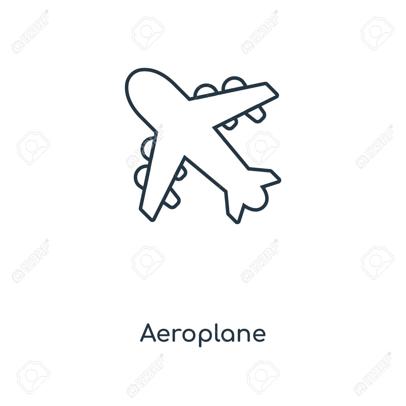 Aeroplane Concept Line Icon Linear Aeroplane Concept Outline