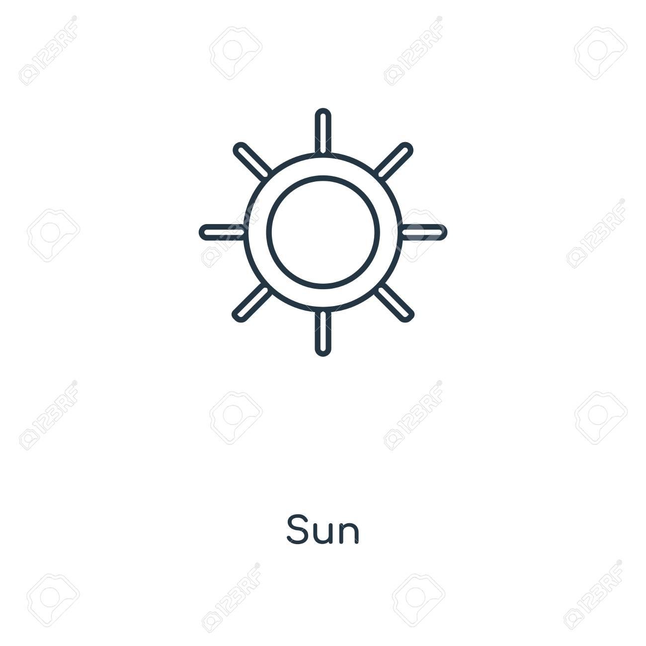 sun concept line icon linear sun concept outline symbol design