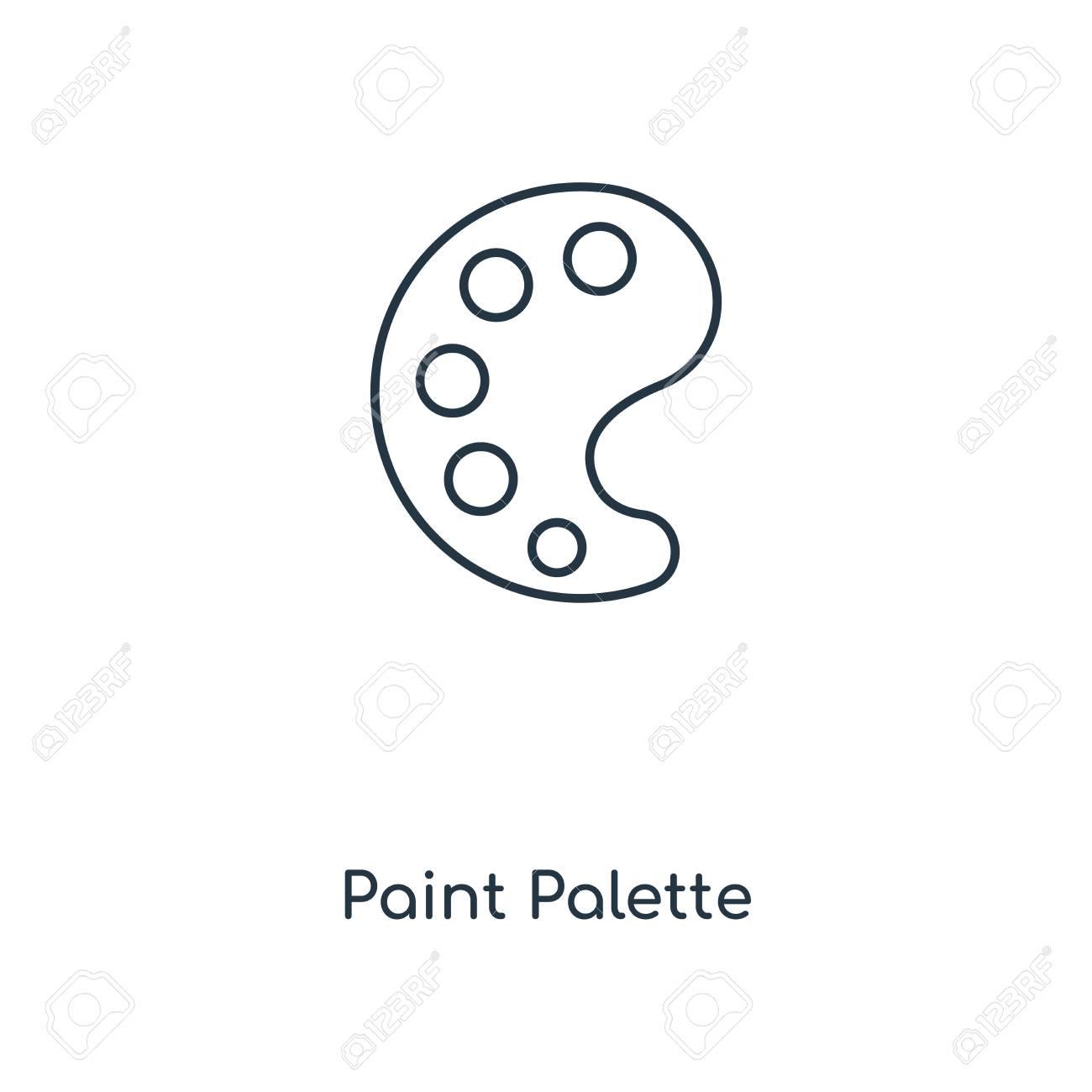Paint Palette Concept Line Icon Linear Paint Palette Concept