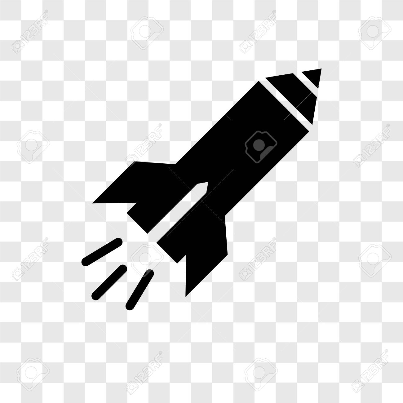 Missile Vector Icon Isolated On Transparent Background Missile