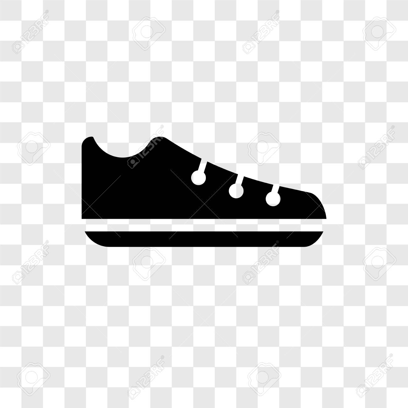 Shoes vector icon isolated on transparent background, Shoes transparency..