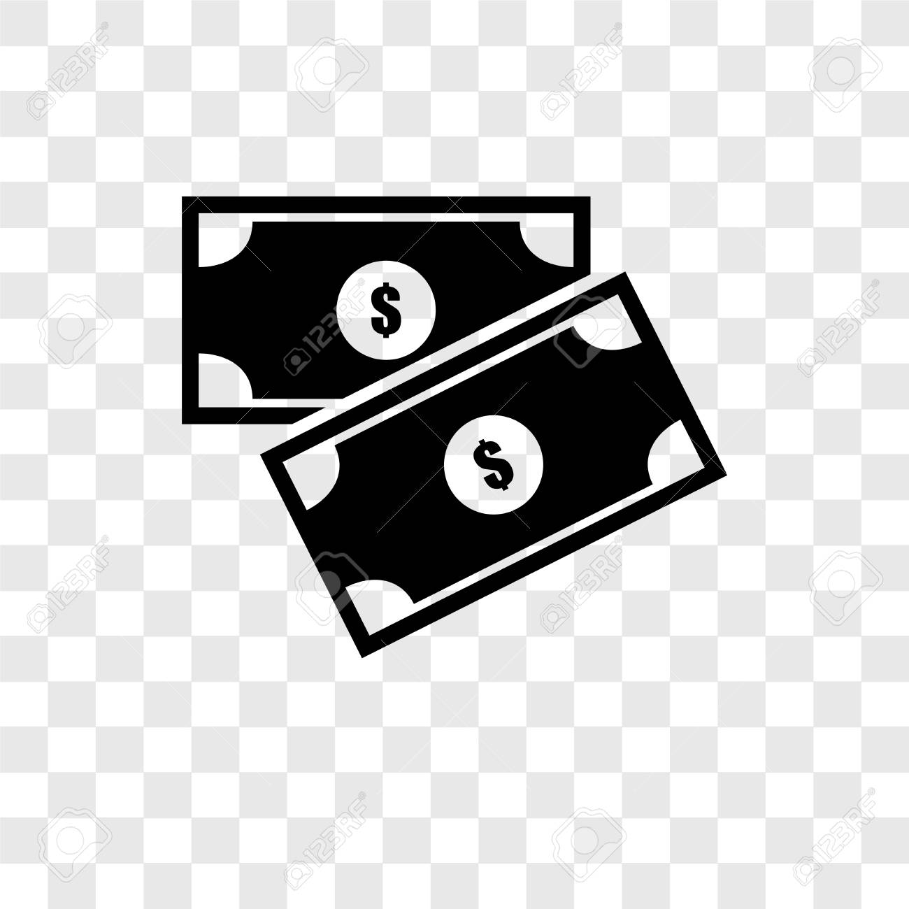 Money Vector Icon Isolated On Transparent Background Money Transparency