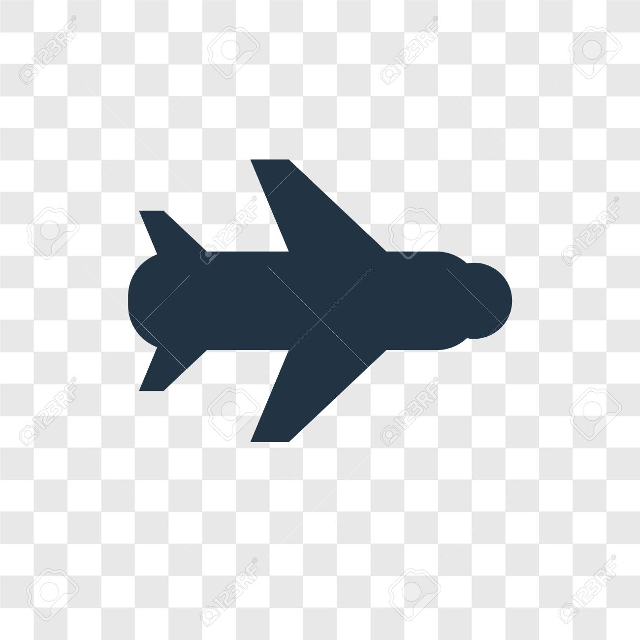 Plane Vector Icon Isolated On Transparent Background Plane