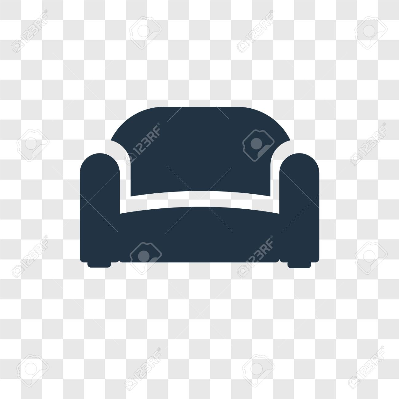 Sofa Vector Icon Isolated On Transparent Background Sofa