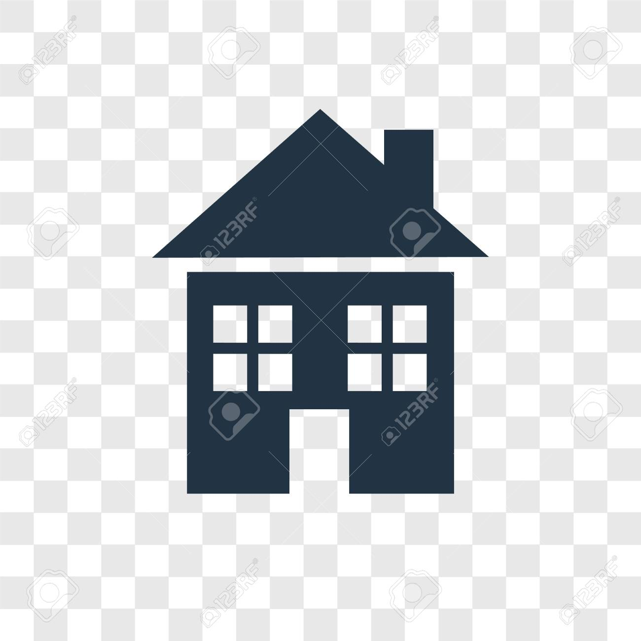 House Vector Icon Isolated On Transparent Background House Transparency Royalty Free Cliparts Vectors And Stock Illustration Image 112485200