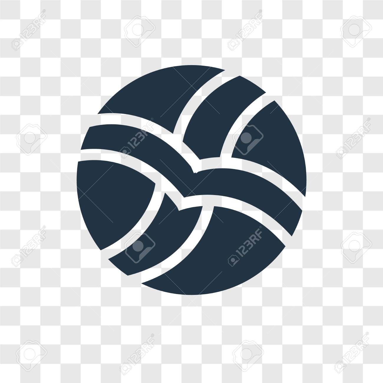 Volleyball Vector Icon Isolated On Transparent Background Volleyball Royalty Free Cliparts Vectors And Stock Illustration Image 112442222