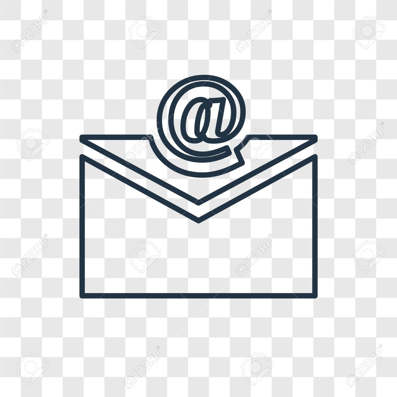 Email Concept Vector Linear Icon Isolated On Transparent Background Royalty Free Cliparts Vectors And Stock Illustration Image 111529448