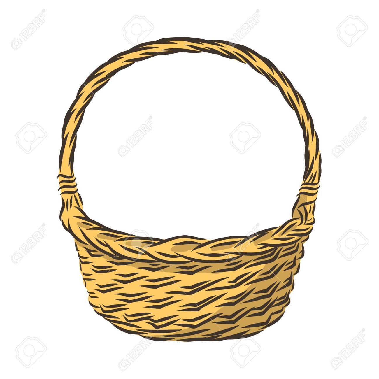 woven empty basket, gift decor vector illustration - 139574859