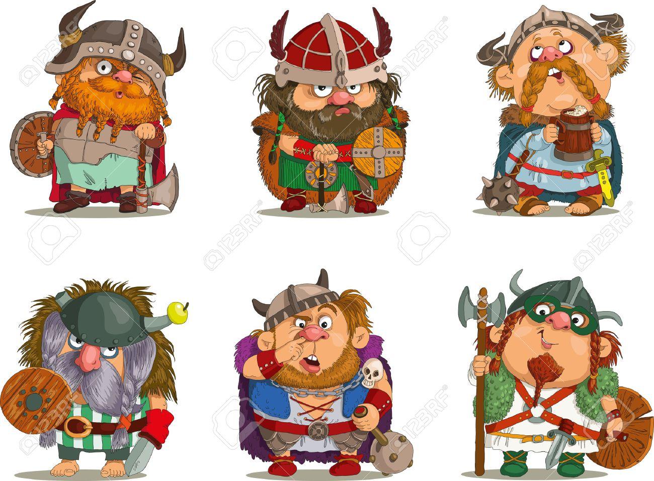 Cartoon vikings Funny cartoon. - 46195328