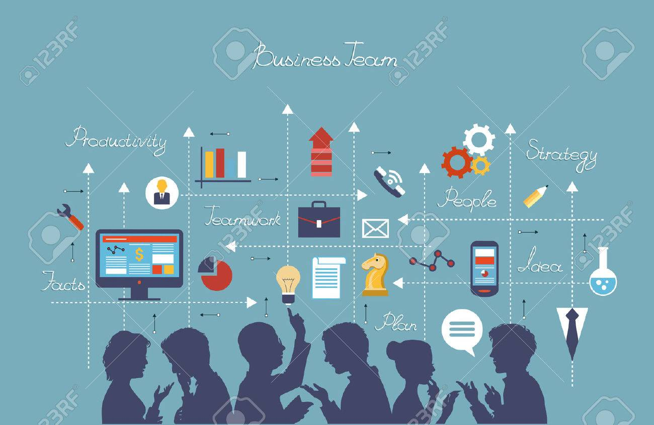 Business people group over conceptual. - 46205345