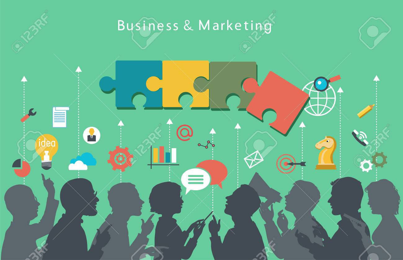 Business people group over conceptual. - 46205570