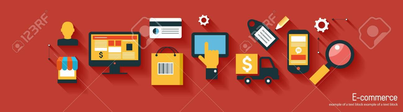 infographics background E-commerce. Business concept. Set icons - 47628107