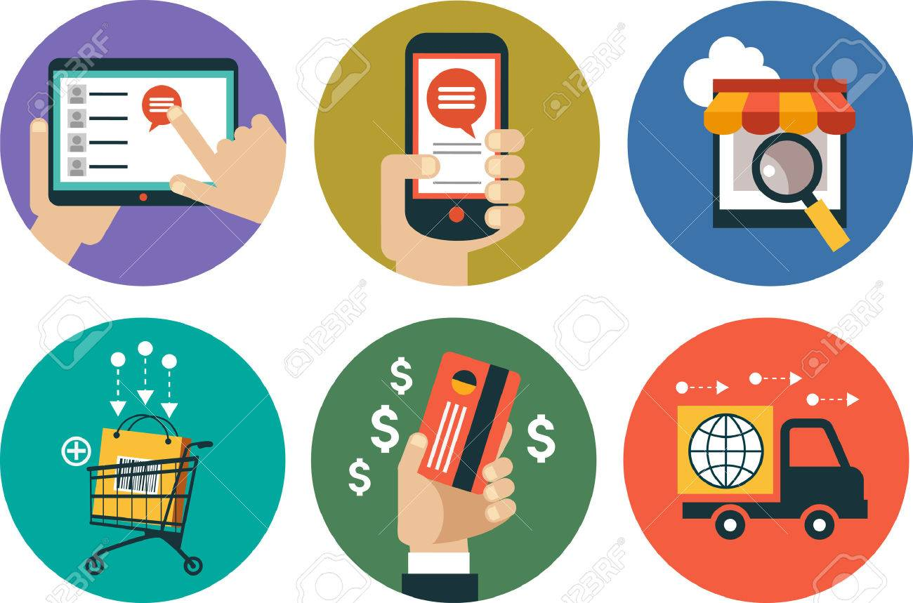 infographics background E-commerce. Business concept. Set icons - 47628646